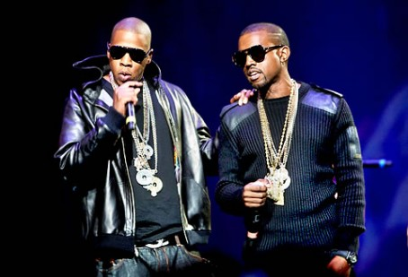 Jay-Z and Kanye on stage