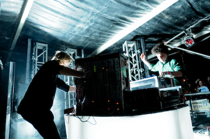 Simian Mobile Disco performing live